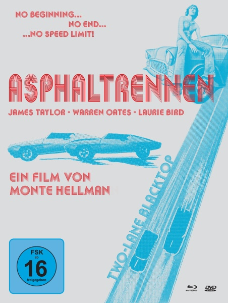 Asphaltrennen - Two-Lane Blacktop (Mediabook, 1 Blu-ray, 2 DVDs)