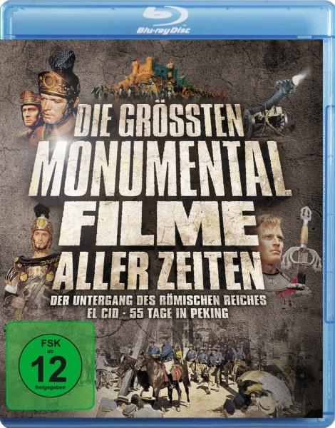 Die größten Monumentalfilme aller Zeiten (3 Blu-rays)