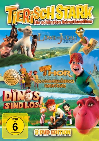 Tierisch stark! Die schönsten Animationsfilme (Thor, Die Dinos sind los!, Löwe von Judah) (3 DVDs)