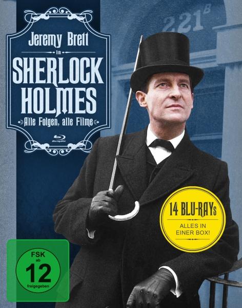 Sherlock Holmes - Alle Folgen, alle Filme (14 Blu-rays)