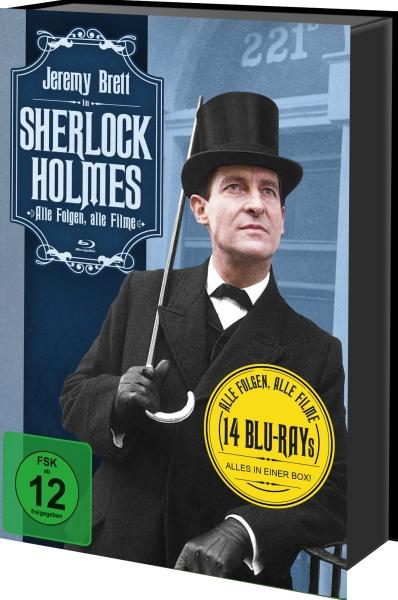 Sherlock Holmes - Alle Folgen, alle Filme (Keepcase) (14 Blu-rays)