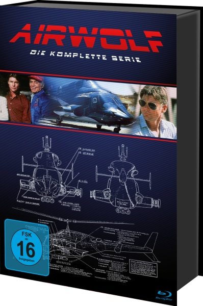 Airwolf - Die komplette Serie (Keepcase) (18 Blu-rays)