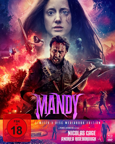 Mandy (Mediabook, 1 Blu-ray + 2 DVD) (Cover B)