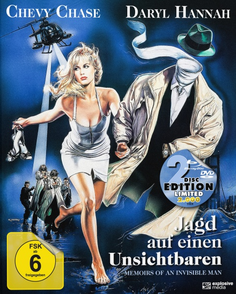 Jagd auf einen Unsichtbaren (Memoirs of an Invisible Man) (Mediabook, Blu-ray + DVD)