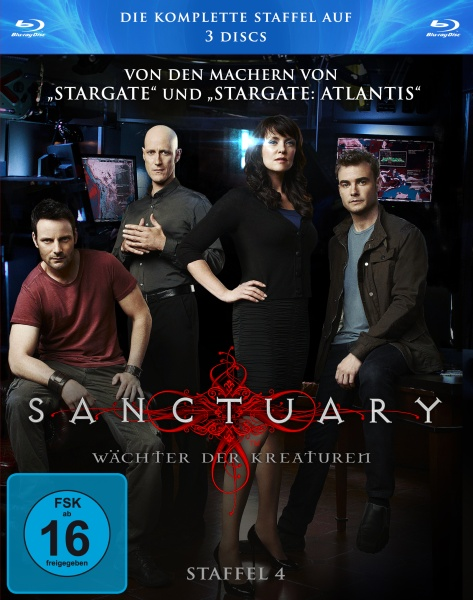 Sanctuary - Wächter der Kreaturen, Staffel 4 in HD (3 Blu-rays)