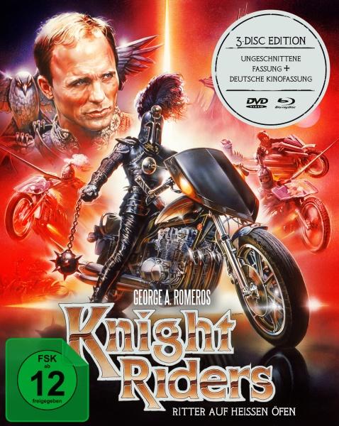 Knightriders - Ritter auf heißen Öfen (George A. Romero) (Mediabook, 2 Blu-rays + 1 DVD)