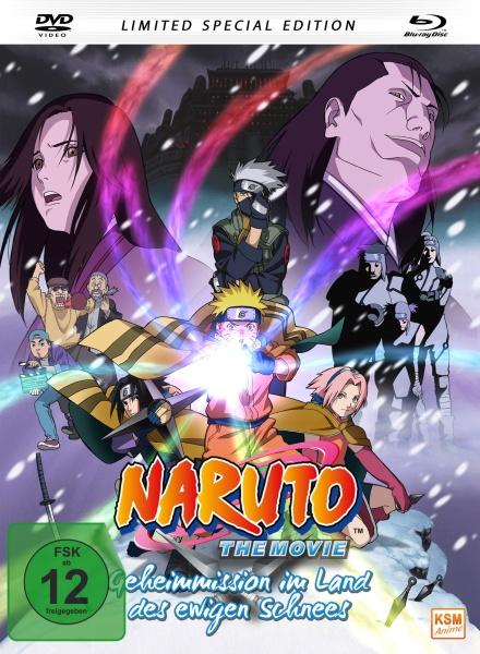 Naruto - Geheimmission im Land des ewigen Schnees - The Movie - Limited Edition (Mediabook) (Blu-ray+DVD)