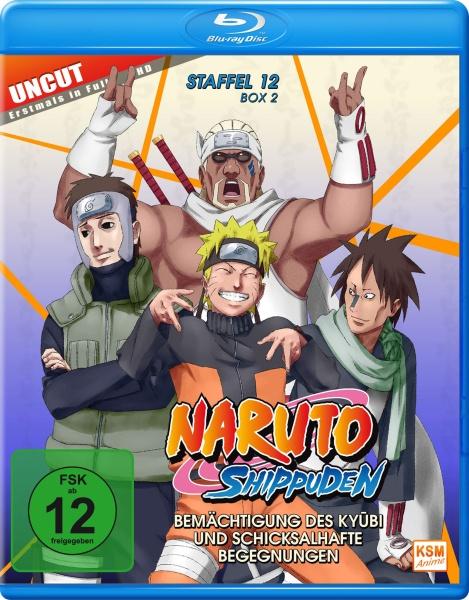 Naruto Shippuden - Bemächtigung des Kyubi und schicksalhafte Begegnungen - Staffel 12, Box 2,:Folge 481-495 (2 Blu-rays)