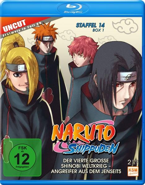 Naruto Shippuden - Der vierte große Shinobi Weltkrieg - Angreifer aus dem Jenseits - Staffel 14 - Box 1 - Episode 516-528 (2 Blu-rays)