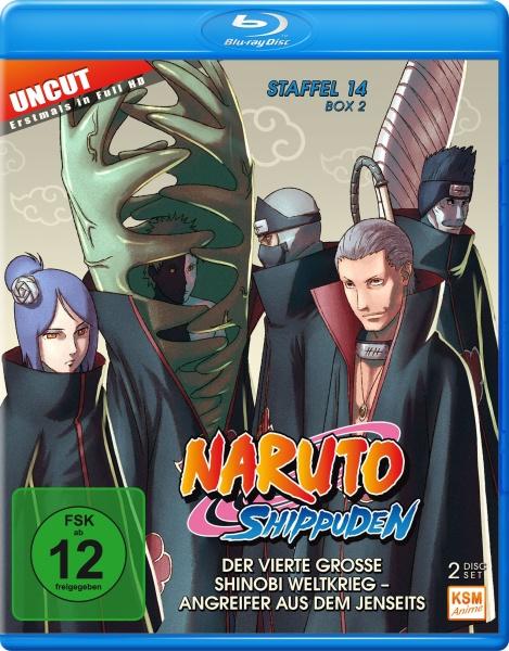Naruto Shippuden - Der vierte große Shinobi Weltkrieg - Angreifer aus dem Jenseits - Staffel 14 - Box 2: Folge 529-540 (2 Blu-rays)