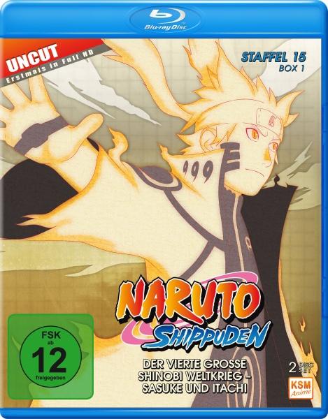 Naruto Shippuden - Der vierte große Shinobi Weltkrieg - Sasuke und Itachi - Staffel 15 - Box 1 - Episode 541-554 (2 Blu-rays)