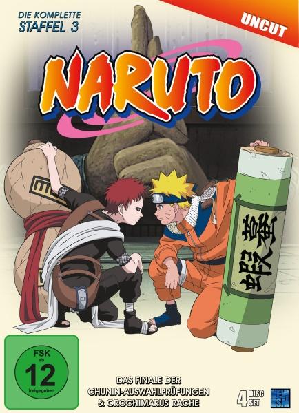 Naruto - Das Finale der Chunin-Auswahlprüfungen & Orochimarus Rache - Staffel 3: Folge 53-80 (4 DVDs)