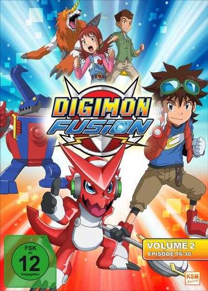Digimon Fusion - Volume 2: Episode 16-30 (3 DVDs)