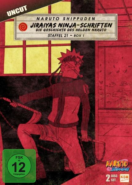 Naruto Shippuden - Jiraiyas Ninja-Schriften: Die Geschichte des Helden Naruto - Staffel 21.1: Episode 652-661 (2 DVDs)