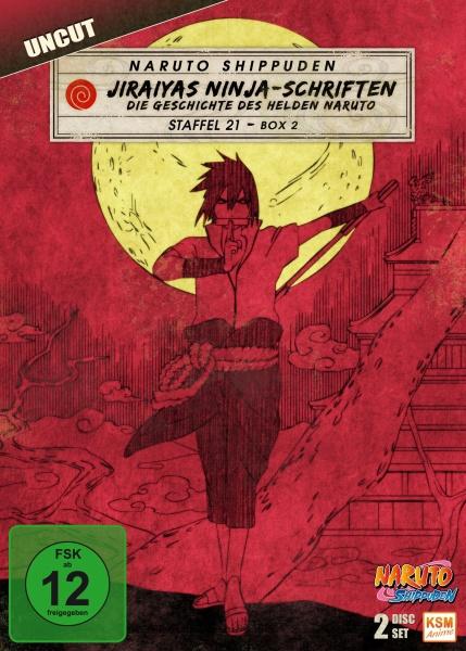 Naruto Shippuden - Jiraiyas Ninja-Schriften: Die Geschichte des Helden Naruto - Staffel 21.2: Episode 662-670 (2 DVDs)