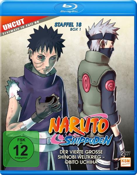 Naruto Shippuden - Der vierte große Shinobi Weltkrieg - Obito Uchiha - Staffel 18.1: Folge 593-602 (2 Blu-rays)