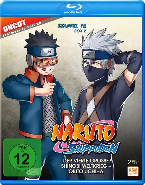 Naruto Shippuden - Der vierte große Shinobi Weltkrieg - Obito Uchiha - Staffel 18.2: Episode 603-613 (2 Blu-rays)