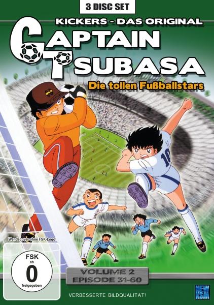 Captain Tsubasa - Die tollen Fußballstars - Volume 2: Episode 31-60 (3 DVDs)