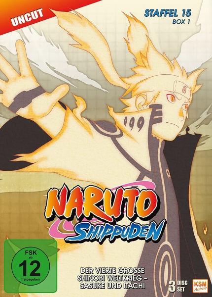 Naruto Shippuden - Der vierte große Shinobi Weltkrieg - Sasuke und Itachi - Staffel 15 - Box 1 - Episode 541-554 (3 DVDs)