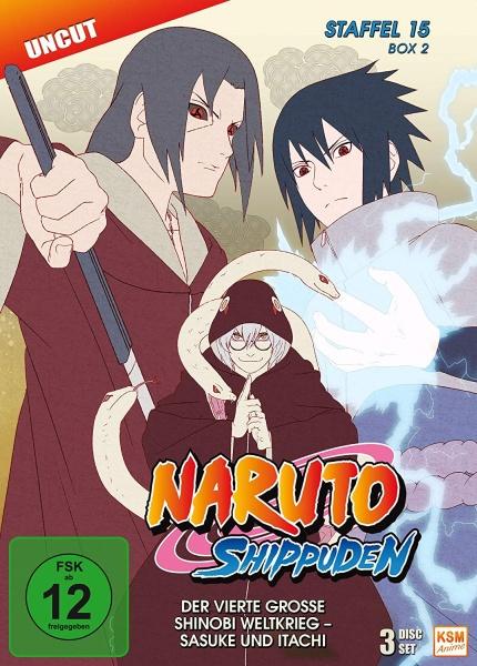 Naruto Shippuden - Der vierte große Shinobi Weltkrieg - Sasuke und Itachi - Staffel 15 - Box 2 - Episode 555-568 (3 DVDs)
