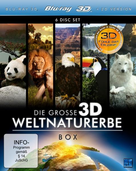 Die große 3D Weltnaturerbe Box (6 3D Blu-rays)
