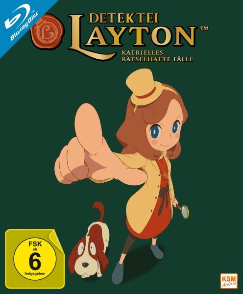 Detektei Layton - Katrielles rätselhafte Fälle - Volume 1: Episode 01-10 (Sammelschuber) (2 Blu-rays)