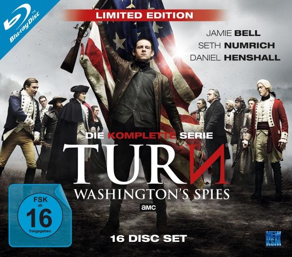 Turn - Washington's Spies - Complete Edition Staffel 1-4 (16 Blu-rays)